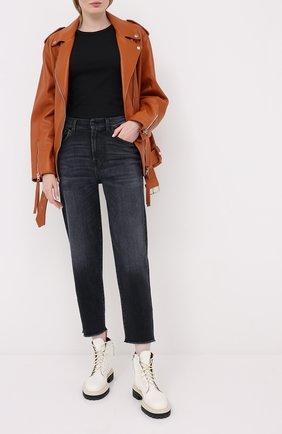 Женские джинсы 7 FOR ALL MANKIND серого цвета, арт. JSA7B190LD | Фото 2