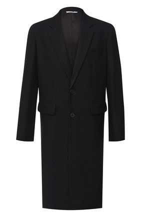 Мужской шерстяное пальто VALENTINO черного цвета, арт. UV3CAD556EV | Фото 1