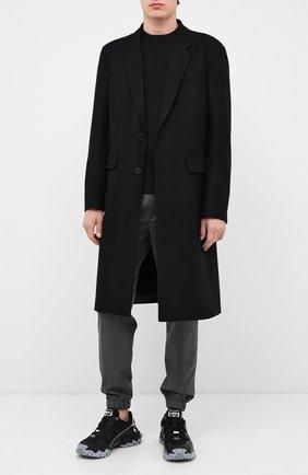 Мужской шерстяное пальто VALENTINO черного цвета, арт. UV3CAD556EV | Фото 2