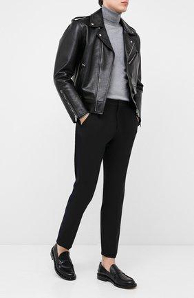 Мужские кожаные пенни-лоферы VALENTINO черного цвета, арт. UY2S0C42/PMF | Фото 2