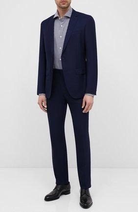 Мужской шерстяной костюм BOSS синего цвета, арт. 50432898 | Фото 1
