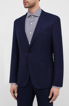 Мужской шерстяной костюм BOSS синего цвета, арт. 50432898 | Фото 2