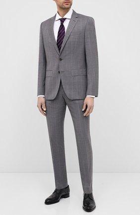 Мужской шерстяной костюм BOSS светло-серого цвета, арт. 50432979 | Фото 1