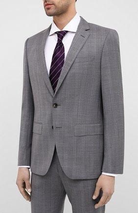 Мужской шерстяной костюм BOSS светло-серого цвета, арт. 50432979 | Фото 2
