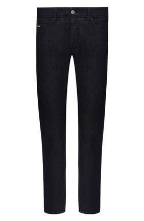 Мужские джинсы BOSS темно-синего цвета, арт. 50432473 | Фото 1