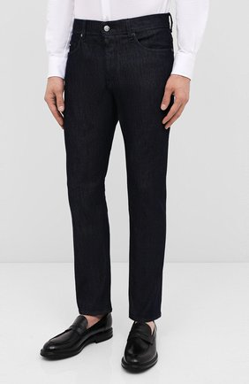 Мужские джинсы BOSS темно-синего цвета, арт. 50432473 | Фото 3