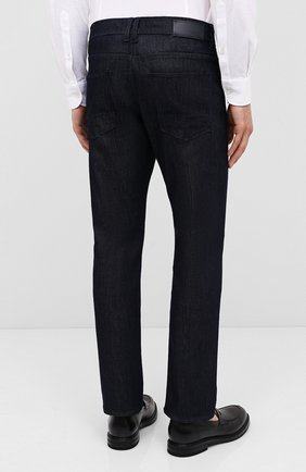 Мужские джинсы BOSS темно-синего цвета, арт. 50432473 | Фото 4
