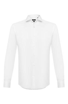 Мужская хлопковая сорочка BOSS белого цвета, арт. 50433168 | Фото 1