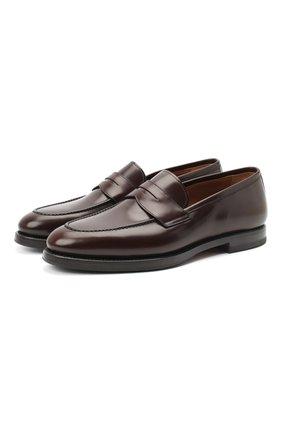 Мужские кожаные пенни-лоферы W.GIBBS темно-коричневого цвета, арт. 0354003/0221 | Фото 1
