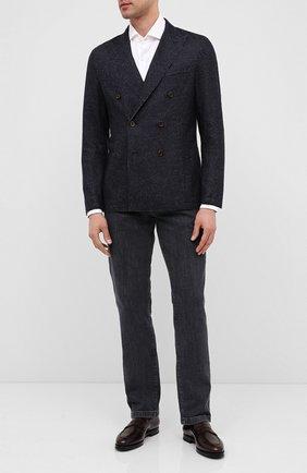 Мужские кожаные пенни-лоферы W.GIBBS темно-коричневого цвета, арт. 0354003/0221 | Фото 2