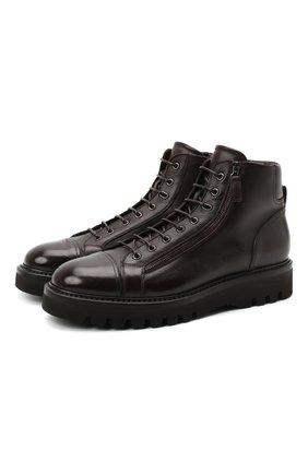Мужские кожаные ботинки W.GIBBS темно-коричневого цвета, арт. 0672001/1541 | Фото 1