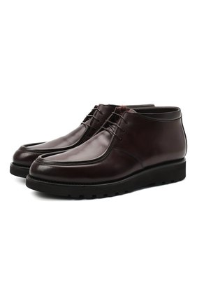 Мужские кожаные ботинки W.GIBBS темно-коричневого цвета, арт. 0877001/1083 | Фото 1
