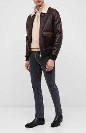Мужские кожаные челси W.GIBBS черного цвета, арт. 2552060/0216 | Фото 2