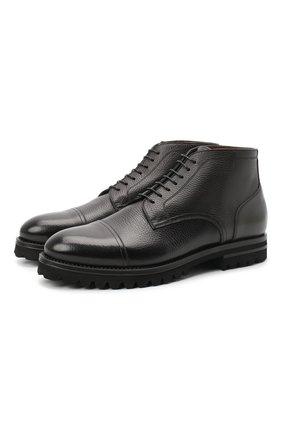 Мужские кожаные ботинки W.GIBBS черного цвета, арт. 6217008/1921 | Фото 1