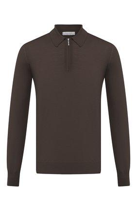 Мужское шерстяное поло GRAN SASSO светло-коричневого цвета, арт. 55125/14290 | Фото 1