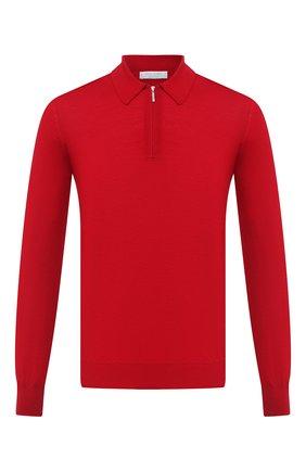 Мужское шерстяное поло GRAN SASSO красного цвета, арт. 55125/14290 | Фото 1