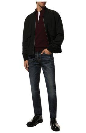 Мужское шерстяное поло GRAN SASSO бордового цвета, арт. 55125/14290 | Фото 2