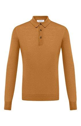 Мужское поло из шерсти и шелка GRAN SASSO желтого цвета, арт. 57132/13190 | Фото 1