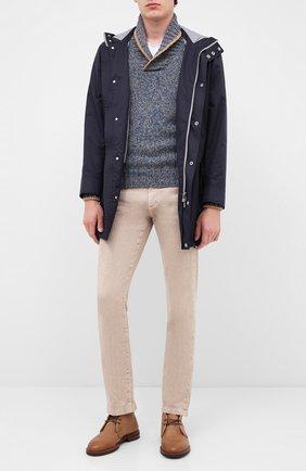 Мужской шерстяной свитер GRAN SASSO бирюзового цвета, арт. 10107/25701 | Фото 2