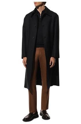 Мужское поло из шерсти и шелка GRAN SASSO темно-синего цвета, арт. 57137/13190 | Фото 2