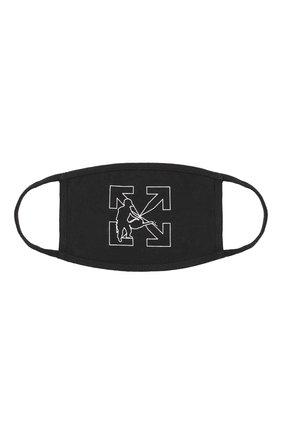 Мужская хлопковая маска для лица OFF-WHITE черного цвета, арт. 0MRG001E20FAB0031001 | Фото 1