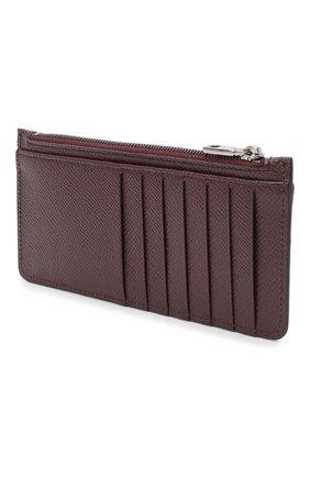 Мужской кожаный футляр для кредитных карт DOLCE & GABBANA бордового цвета, арт. BP2172/AZ602 | Фото 2