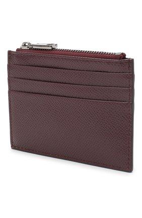 Мужской кожаный футляр для кредитных карт DOLCE & GABBANA бордового цвета, арт. BP2266/AZ602 | Фото 2