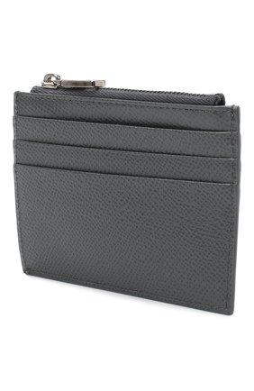 Мужской кожаный футляр для кредитных карт DOLCE & GABBANA темно-серого цвета, арт. BP2266/AZ602 | Фото 2