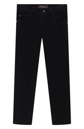 Детские хлопковые брюки LORO PIANA темно-синего цвета, арт. FAL2312 | Фото 1