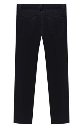 Детские хлопковые брюки LORO PIANA темно-синего цвета, арт. FAL2312 | Фото 2