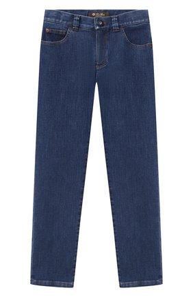 Детские джинсы LORO PIANA синего цвета, арт. FAL2584   Фото 1