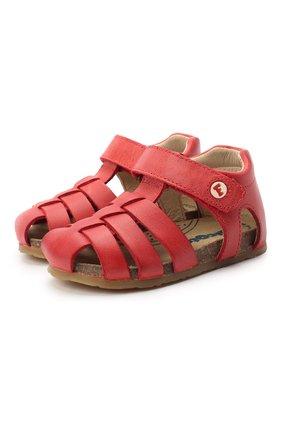 Детские кожаные сандалии FALCOTTO красного цвета, арт. 0011500736/01 | Фото 1