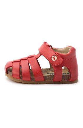 Детские кожаные сандалии FALCOTTO красного цвета, арт. 0011500736/01 | Фото 2
