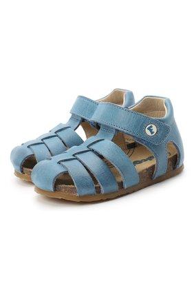 Детские кожаные сандалии FALCOTTO синего цвета, арт. 0011500736/01 | Фото 1