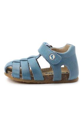 Детские кожаные сандалии FALCOTTO синего цвета, арт. 0011500736/01 | Фото 2