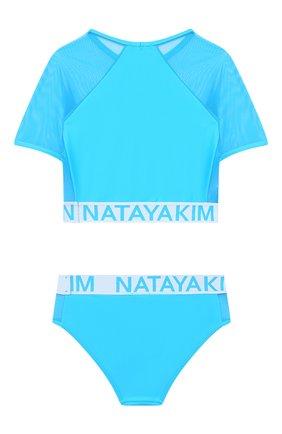Детского раздельный купальник NATAYAKIM бирюзового цвета, арт. NY-084/19K   Фото 2