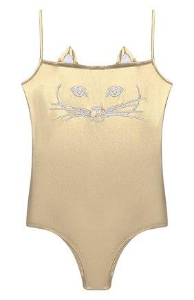 Детского слитный купальник NATAYAKIM золотого цвета, арт. NY-020/19K   Фото 1