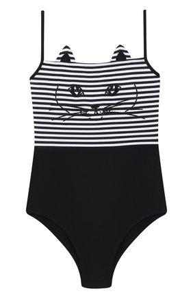 Детского слитный купальник NATAYAKIM черно-белого цвета, арт. NY-020/19K   Фото 1