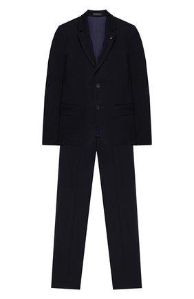 Детский костюм из брюк и пиджака ALESSANDRO BORELLI MILANO синего цвета, арт. BEJ20220T-20л | Фото 1