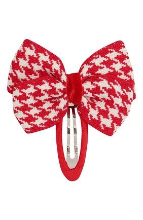 Детская заколка-клак cell bow JUNEFEE красного цвета, арт. 6586 | Фото 1