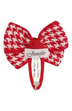 Детская заколка-клак cell bow JUNEFEE красного цвета, арт. 6586 | Фото 2