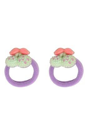 Детская комплект из двух резинок cherry JUNEFEE зеленого цвета, арт. 4606 | Фото 1