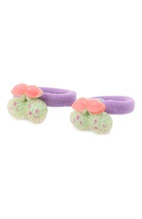 Детская комплект из двух резинок cherry JUNEFEE зеленого цвета, арт. 4606 | Фото 2