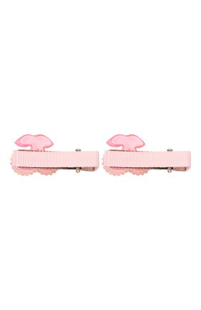 Детская комплект из двух заколок shiny cherry JUNEFEE розового цвета, арт. 5198 | Фото 2