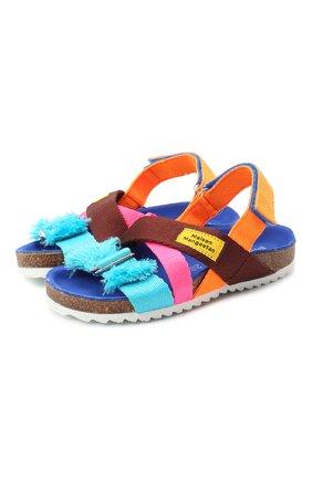 Детские сандалии MAISON MANGOSTAN разноцветного цвета, арт. 9563-000/28-34 | Фото 1