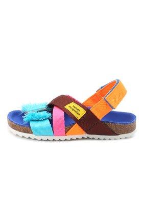 Детские сандалии MAISON MANGOSTAN разноцветного цвета, арт. 9563-000/35-39 | Фото 2