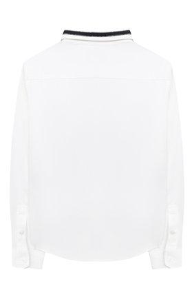 Детская хлопковая рубашка EMPORIO ARMANI белого цвета, арт. 6H4CA6/1NXYZ   Фото 2
