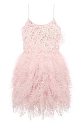 Детское хлопковое платье TUTU DU MONDE розового цвета, арт. TDM5141/4-11   Фото 1