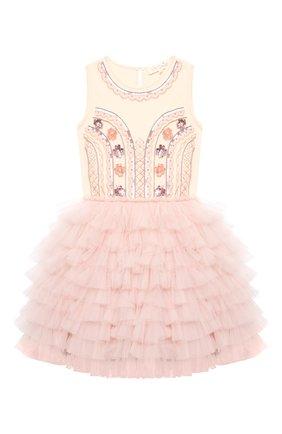 Детское хлопковое платье TUTU DU MONDE розового цвета, арт. TDM5143/4-11 | Фото 1