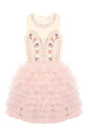 Детское хлопковое платье TUTU DU MONDE розового цвета, арт. TDM5143/12   Фото 1